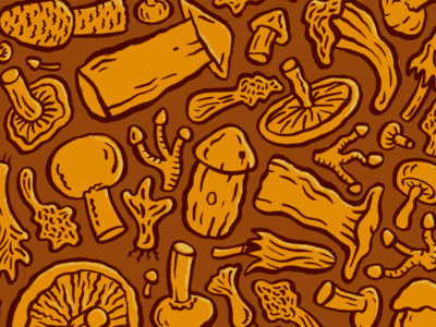 Make It Fungi food handdrawn mushrooms fungi illustrator illustration