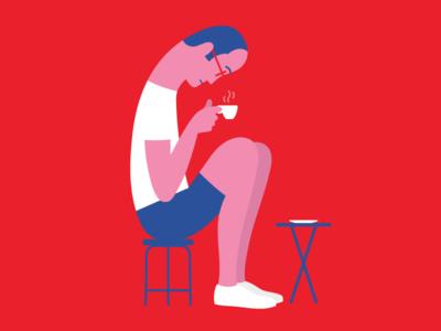 Big in Italy character fenwickstudio coffee italy design illustrator illustration