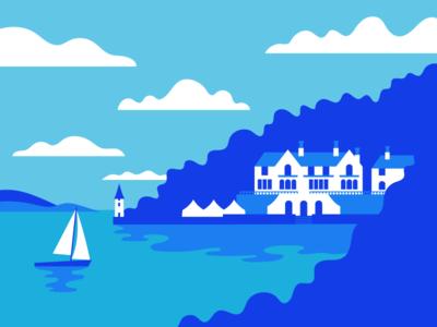 Farewell Festival No.6 graphic design estuary portmerion hand drawn illustration
