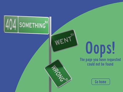 Web page error graphic design ui error challenge web page 404 affinity designer render blender 3d