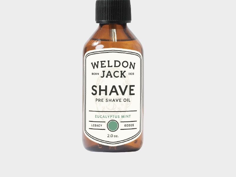 Mens Grooming Labels well done jack goods legacy oil shave weldon jack