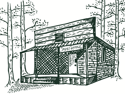 Post Office in the Woods illustration
