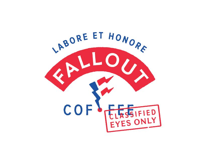FALLOUT brand identity fallout coffee