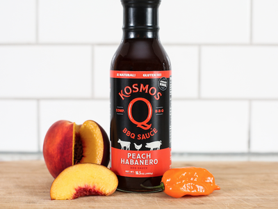 Peachy Hab habanero peach label packaging bbq