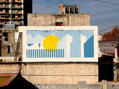 Mendoza illustration wallpainting
