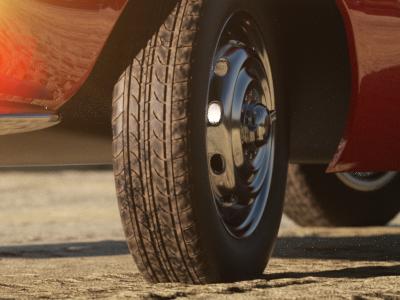 Close up Tyre Shot