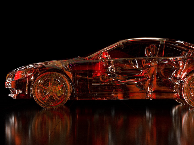 Glass-Car car rendering 3d daily render renders materials cinema4d cycles4d