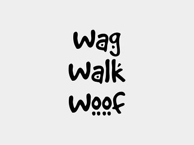 Wag Walk Woof's Logo logo typography branding