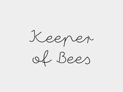 Keeper Of Bees Logo typography logo design branding