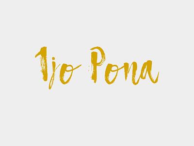 Ijo Pona Logo logo design branding