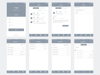 Wireframe Workflow register login application mobile diagram flow experience user wireframes