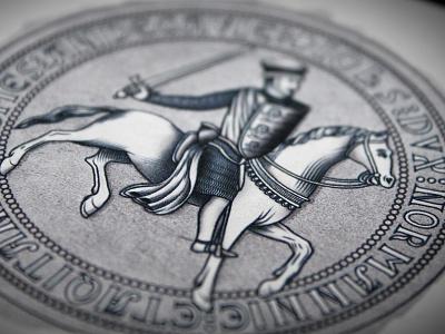 Magna Carta Seal  angevin knight horse king john seasons playing cards black and white wax seal medieval vector magna carta