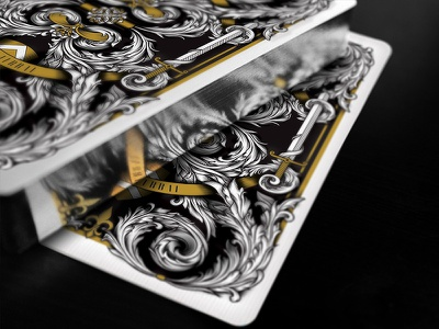 Silver Gilded Playing Cards - Magna Carta Series king john silver playing cards medieval seasons playing cards luxury playing cards magna carta gilding