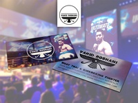 Vahid Roshani the Iranian fighter: Logo & business card