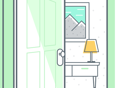 Welcome Home home offset welcome illustration