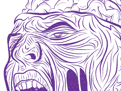Zombie texture detail zombie brains purple distressed iphone wallpaper freebie free