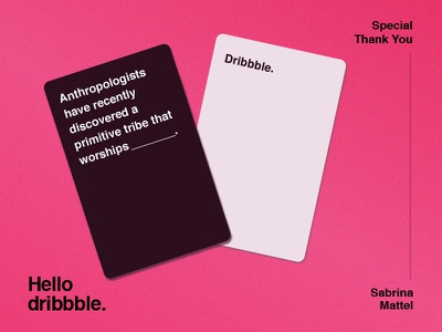 Cards Against Humanity Designs Themes Templates And Downloadable Graphic Elements On Dribbble