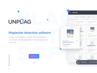 Unplag Redesign Project ui ux redesign