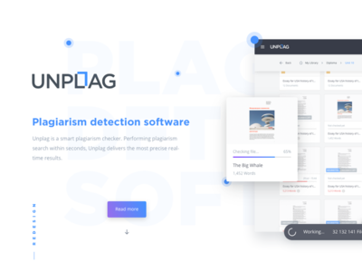 Unplag Redesign Project