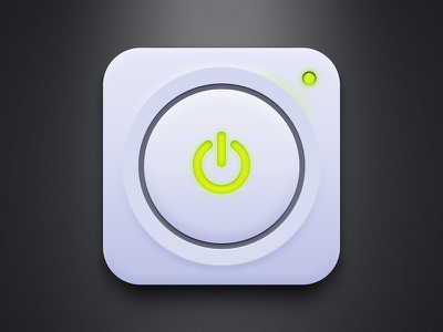 Power Button (Free PSD) power button ui green light simple ios iphone free psd download