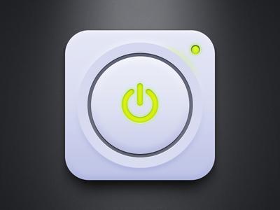 Power Button (Free PSD)