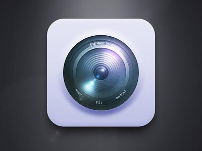 Camera (Free PSD) camera ios iphone icon realism ui flare light