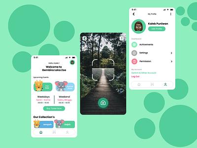 Gembira Loka Zoo Apps zoo application mobile ui