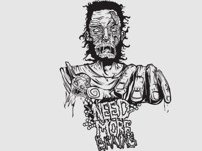 Brains vectors black and white zombie