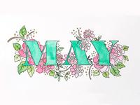 May - Watercolor