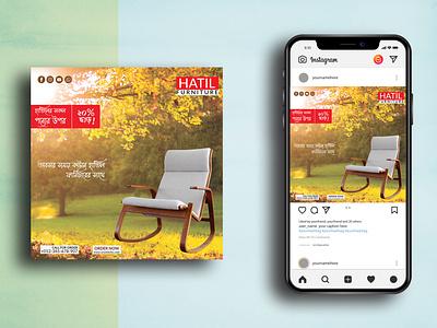 Facebook/ Instagram/ Social Media Post Template graphic design facebook ad facebook post facebook ads furniture advertising design web banner social media banner vector social media post branding instagram post
