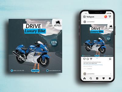 Bike Social Media Post Design ad banner ad ads luxury bike bike illustration design web banner social media banner social media post vector instagram post branding