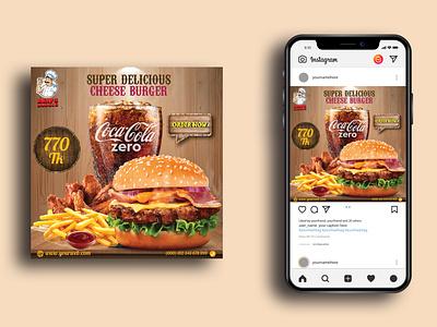 Restaurant Fast Food Social Media Post Design ads ad banner marketing facebook cover facebook post web banner social media banner social media post vector branding instagram post restaurant fast food