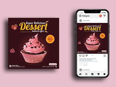 Social Media Post Design ad design ad ads social media marketing web banner facebok cover facebook post social media banner social media post instagram post restaurant cake dessert