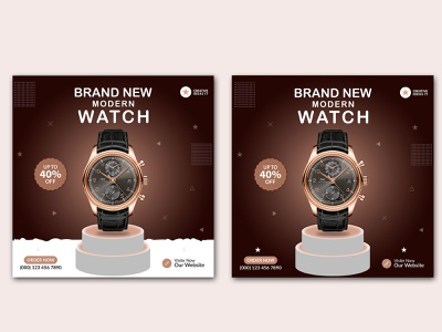 Watch Social Media Post Template/ Ad Banner linkedin banner social media social media post social media design social media banner social media pack social media template banner banner ads banner design instagram post instagram banner facebook banner facebook ads ads banner design watch watches product banner banner ad