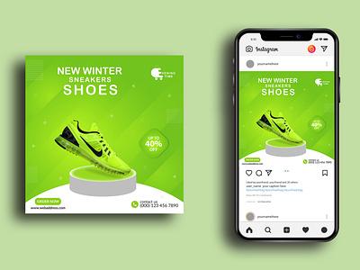 Product | Instagram banner Posts nike branding social media social media post ads banner ecommerce discount sale shoe banner product