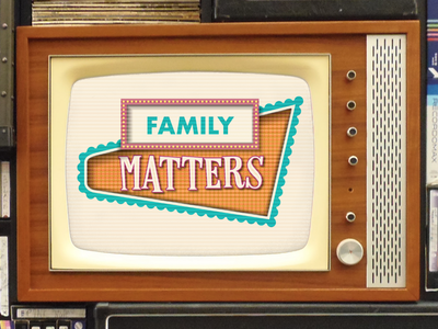 Family Matters Series typography youth ministry sundayfunday ministry church photoshop illustration church design sermon design