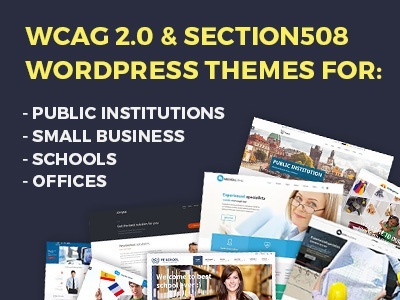WCAG 2.0 & Section508 WordPress Themes web accessibility section508 section 508 wcag wcag 2.0