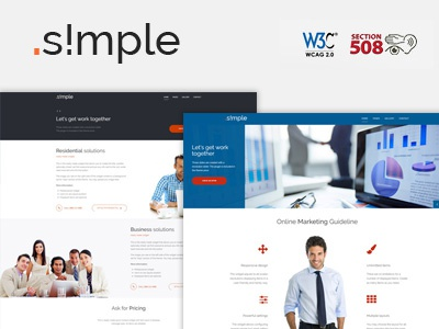 Simple WordPress WCAG 2.0 Theme ux ui design web web accessibility wordpress theme section508 wcag