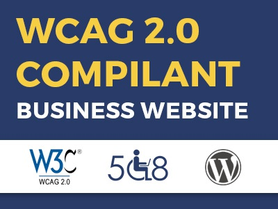 Make Your Business Website with WCAG 2.0 AA & WordPress ux ui web wcag design web accessibility wordpress theme section508 wcag