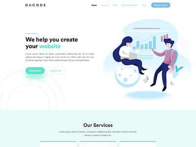 dacode saas web agency website software website saas agency figma design web design saas development saas web saas web development web agency design web agency