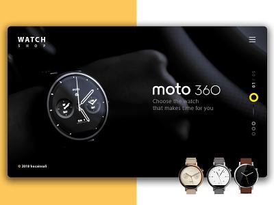 Watch Shop landing creative desgin watch website ui ux ui web moto360 360 ui material design design