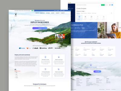 Cloud Web Design Concept