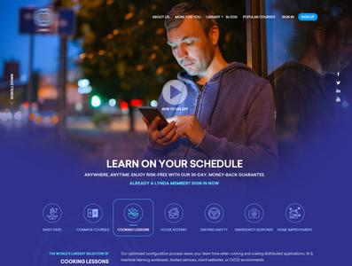 Web Design for Learning Platform