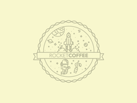 Rocketcoffee Logo Badge