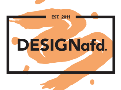 DESIGNafd. new logo, color variation #1 brush orange logo design logo