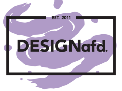 DESIGNafd. new logo, color variation #2 brush purple logo design logo