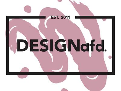 DESIGNafd. new logo, color variation #3 brush red logo design logo
