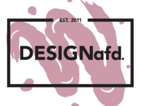 DESIGNafd. new logo, color variation #3