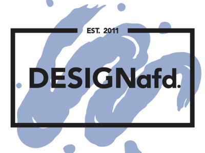 DESIGNafd. new logo, color variation #4 brush blue logo design logo