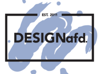 DESIGNafd. new logo, color variation #4